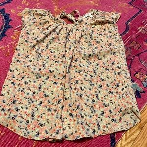 NWOT-Floral Sleeveless Blouse by Lauren Conrad